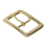 "1 3/8"" (36 mm) Nickel Free Single Prong Solid Brass Rectangular Belt Buckle"