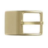 "1 1/4"" (33 mm) Nickel Free Single Prong Rectangular Solid Brass Belt Buckle"