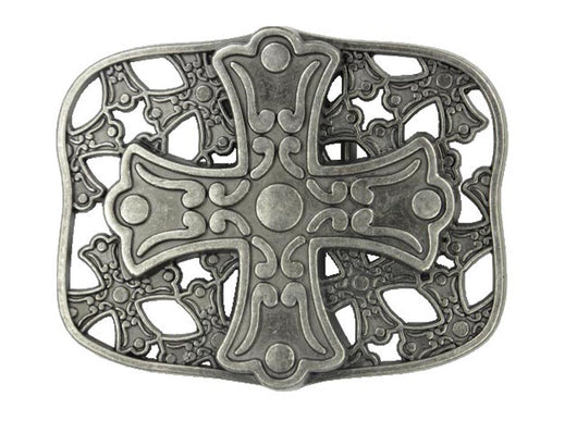 Perforated Retangular Metal Cross Buckle