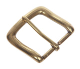 "1 1/2"" (38 mm) Single Prong Square Solid Brass Belt Buckle"