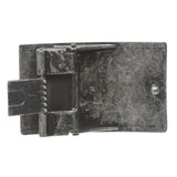 "1 1/2"" (38 MM) Clamping Rectangular Silver Belt Buckle"