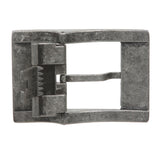 "1 1/2"" (38 MM) Clamping Rectangular Single Prong Silver Belt Buckle"