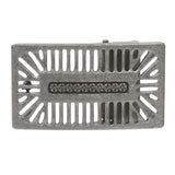 "1 1/2"" (38 MM) Clamping Rectangular Perforated Silver Belt Buckle"