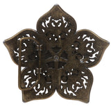 "1 1/2"" Double Layer Perforated Rhinestone Floral Nickel Free Belt Buckle"
