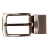 1 1/8 Inch (30 mm) Reversible Clamp Gunmetal Brush Belt Buckle
