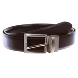 Men's Classic & Fashion Feather Edged Reversible Leather Dress Belt