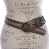 "1 1/2"" Fashion Distressed Casual Belt with Big Button for Closure"