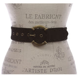 "Women's 1 7/8"" Lace Edged Braided Cow Suede Leather Round Belt"