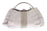Rhinestone Band & Gather Trimmed Evening Bag