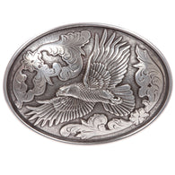 Western Silver Eagle Oval Belt Buckle