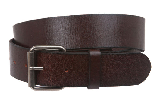 Vintage Genuine Soft Hand Oil-Tanned Leather Snap on Buckle Belt