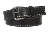 Snap On Antique Circle Metal Studded Leather Belt