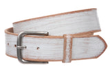"1 3/4"" (45 mm) Cowhide Vintage Retro Distressed Solid Leather Belt"
