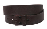 "1 1/2"" (38 mm) Snap On Distressed Genuine Leather Belt Strap"