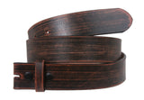 "1 1/2"" Snap On Oil Tanned Vintage Genuine Retro Leather Belt Strap"