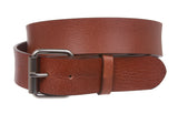 Snap On Plain Oil Tanned Top Grain Cowhide Vintage Retro Leather Belt