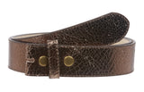 Snap On Crack Print Stitching Edged Genuine Vintage Retro Leather Belt Strap