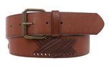 "1 1/2"" (38 mm) Fashion Cross Strap Leather Belt"