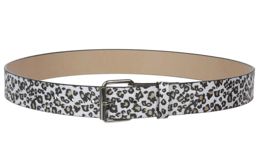 Snap On Leopard Print Animal Fur Fashion Belt