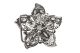 Rhinestone Flower Perforated Belt Buckle