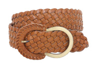 CHINESE LAUNDRY Ladies Semi-covered Non Leather Braided Belt