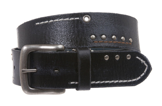 Men's Vintage/Distress Style Genuine Leather Casual Jeans Belt