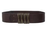 "Women's 2 1/4"" Pull-Through Prong-less Stretch Full Grain Leather Waist Belt"