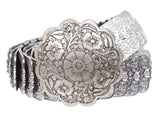"1 1/4""Floral Elastic Sequent Metal Stretch Belt"