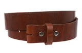 "Snap On 1 1/2"" Soft Hand Genuine Leather Belt Strap"