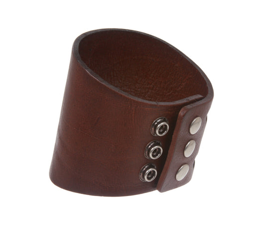 3 Inches Wide Oil Tanned Leather Wristband Cuff Bracelet