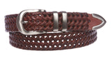 Men's 1 1/8 Inch (30 mm) Braided Leather Dress Lacing Belt