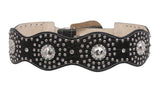 Women's High Waist Western Rhinestone Leather Belt