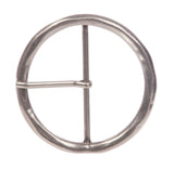 "2 3/4"" (70 mm) Single Prong Round Circle Center Bar Belt Buckle"