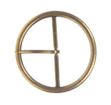 "2 5/8"" (68 mm) Single Prong Round Circle Center Bar Belt Buckle"