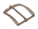 "1 1/2"" (38 mm) Single Prong Rectangular Solid Brass Belt Buckle"