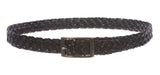 "1 1/4"" Braided Woven Leather Belt"