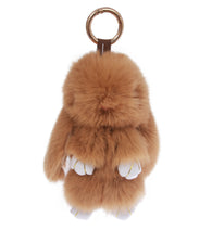 Real Rabbit Fur Doll Keychain for Womens Bag Charms or Car Pendant Key Chain