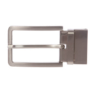 1 3/8 Inch (35 mm) Silver Reversible Clamp Belt Buckle