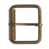 "1 3/4"" (45 mm) Single Prong Brass Roller Belt Buckle"