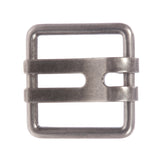 "1 3/4"" Double Wide Flat Prong Square Belt Buckle"
