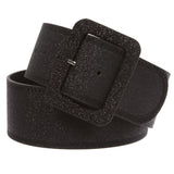 Women's Wide High Waist Glitter Fashion Leather Belt