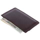Micro Sleeve, Slim Leather Card & Cash Holder Wallet (Max. 3 cards and cash)