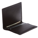 Men's 100% Leather Micro Sleeve, Slim Card & Cash Holder Bifold Wallet - Multi Color Options