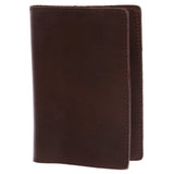 100% Soft Leather Passport Cover - Plain Leather Holder Slim Sleeve Case