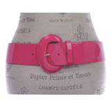 "2 1/4"" Women's Wide Contour Patent Leather Belt"