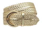 "Ladies 2 1/2"" Matallic Braided Woven Belt"