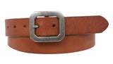 "1 1/8"" Snap On Oil Tanned Skinny Vintage Cowhide Leather Belt"