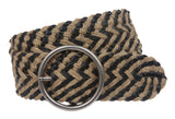 "Women's 2 1/4"" Hemp Braided Woven Non Leather Round Belt"