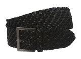 "Women's 2 1/4"" Wide Non Leather Fabric Braided Woven Belt"