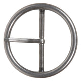 "2 3/8"" (60 mm) Single Prong Round Circle Center Bar Belt Buckle"
